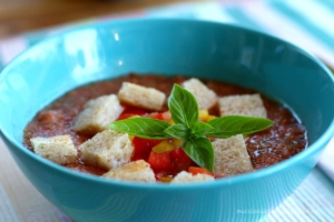 Andalusische Gazpacho-Suppe
